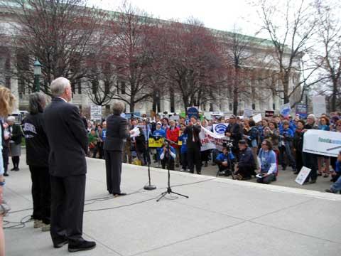 senator_kruger_speaking_to_rally